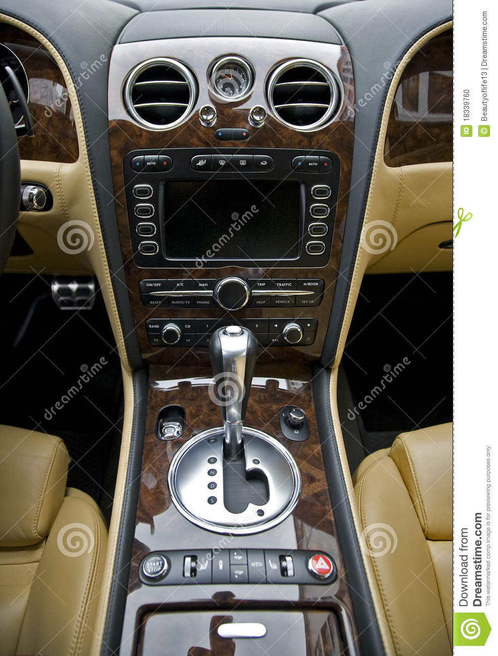Luxury Car Interior Stock Photo Image Of Color Driving 18339760