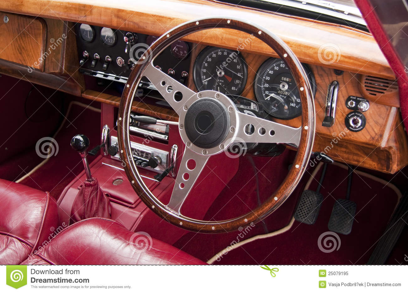 luxury car interior stock image image of classic dashboard 25079195. Black Bedroom Furniture Sets. Home Design Ideas