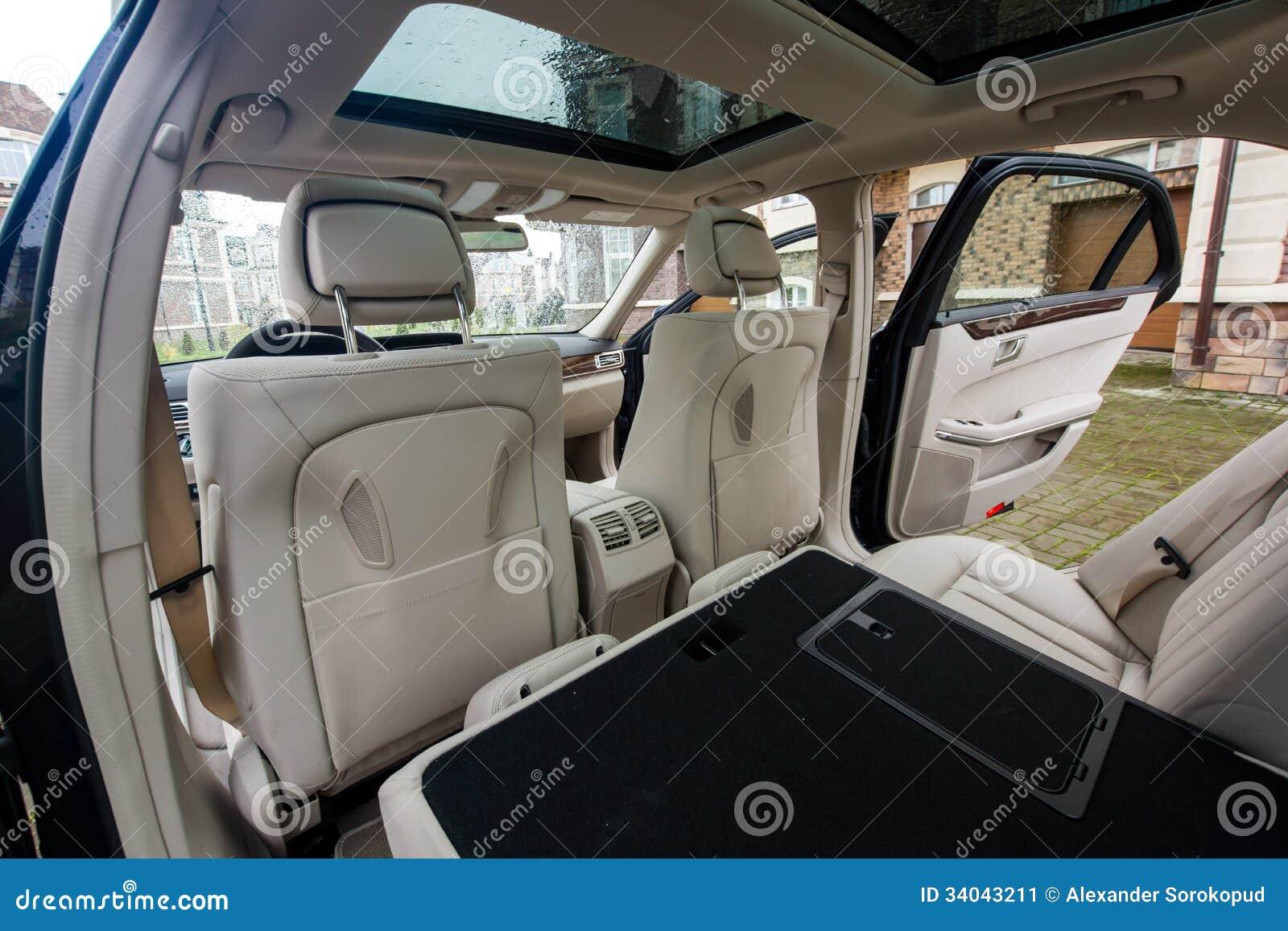 luxury car interior stock image image 34043211. Black Bedroom Furniture Sets. Home Design Ideas