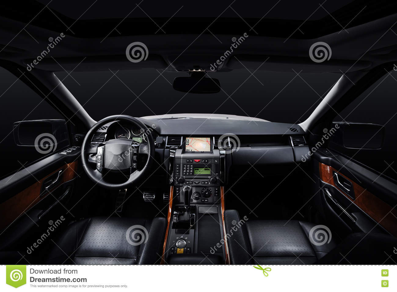 black luxury and modern car interior royalty free stock photo 71580459. Black Bedroom Furniture Sets. Home Design Ideas