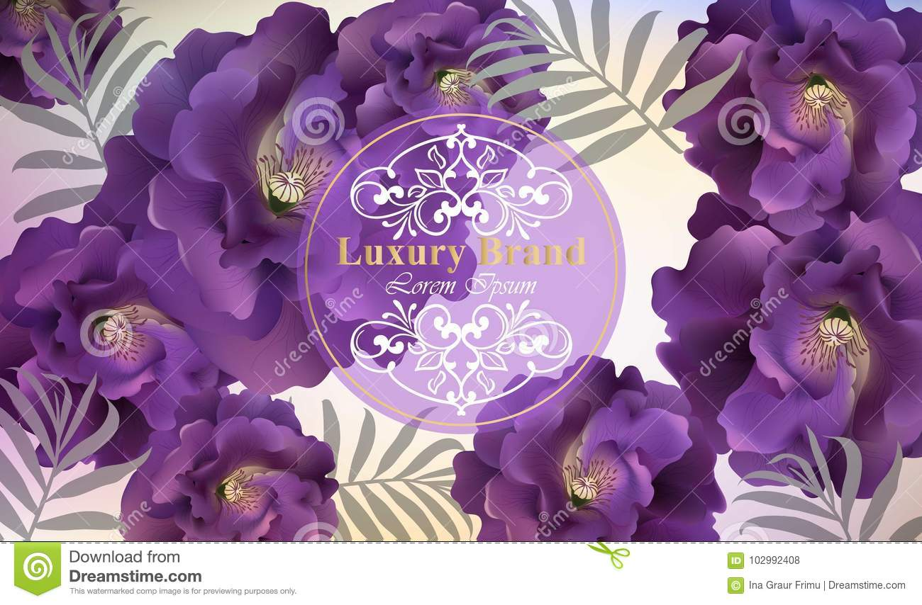 Luxury card with roses flowers vector beautiful illustration for download luxury card with roses flowers vector beautiful illustration for brand book business card reheart Image collections