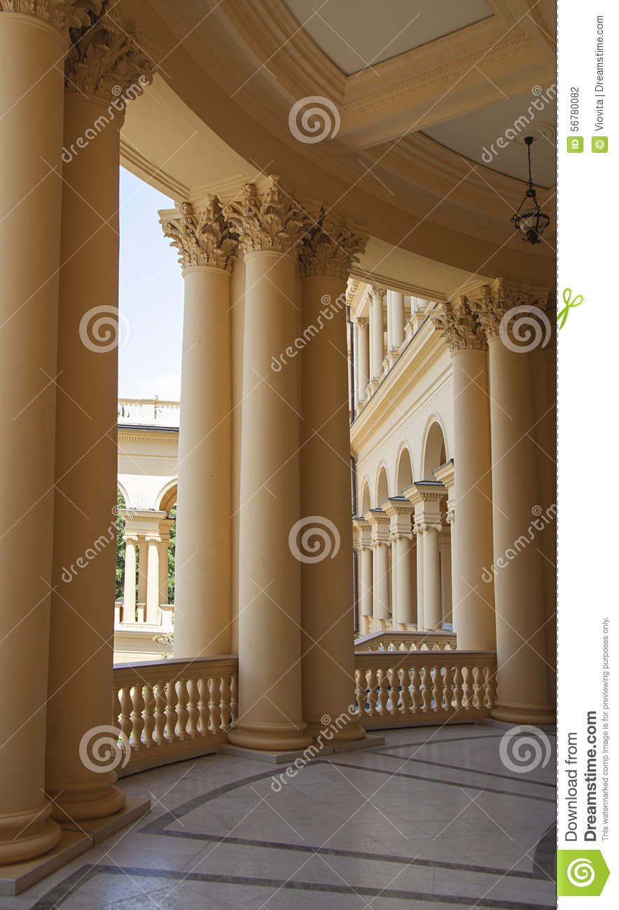 luxury castle design in modern sanatorium stock photo - image