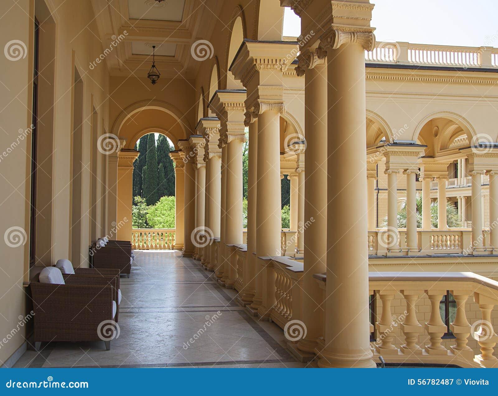 Luxury castle design in modern sanatorium