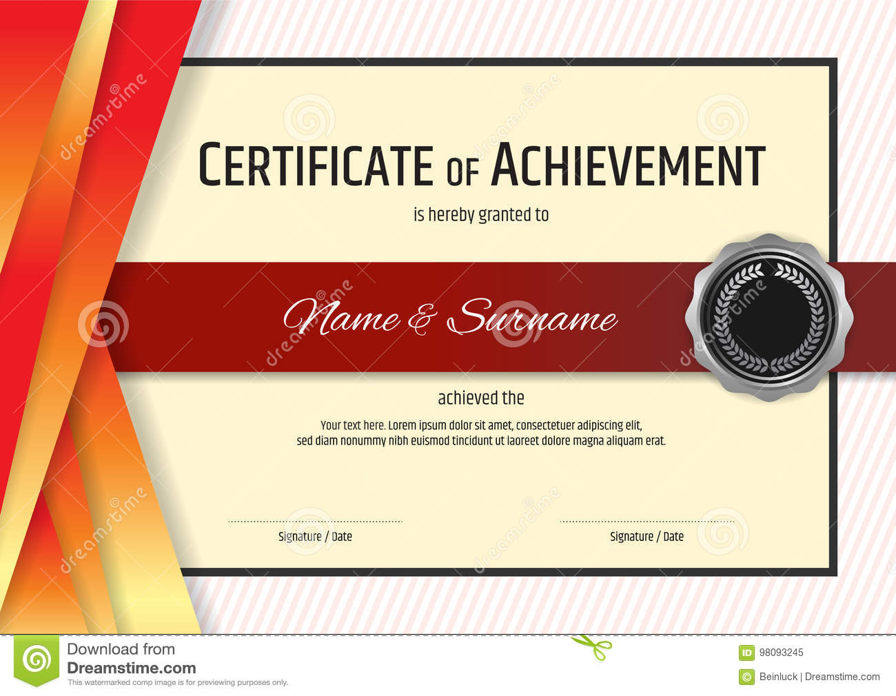 Luxury certificate template with elegant border frame diploma d royalty free vector download luxury certificate template with elegant xflitez Image collections