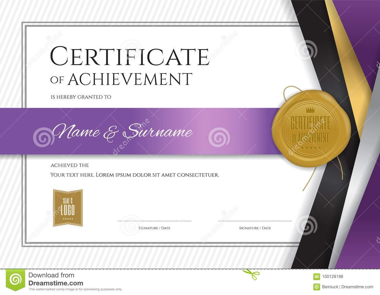 Luxury certificate template with elegant border frame, Diploma d