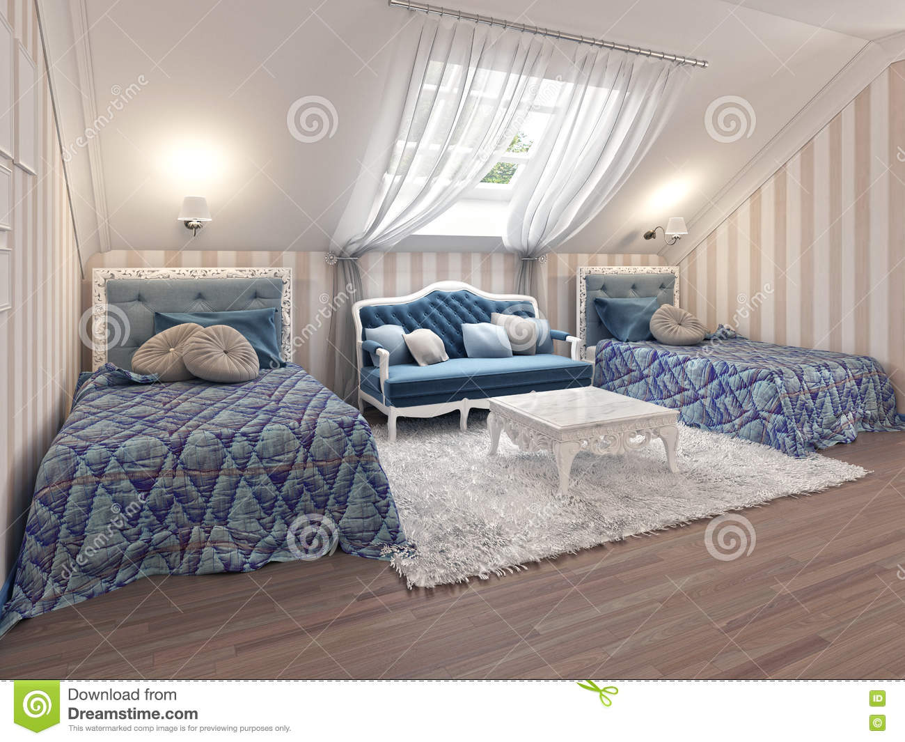 Beds cartoons illustrations vector stock images 623 pictures to download from for Luxury childrens bedroom furniture