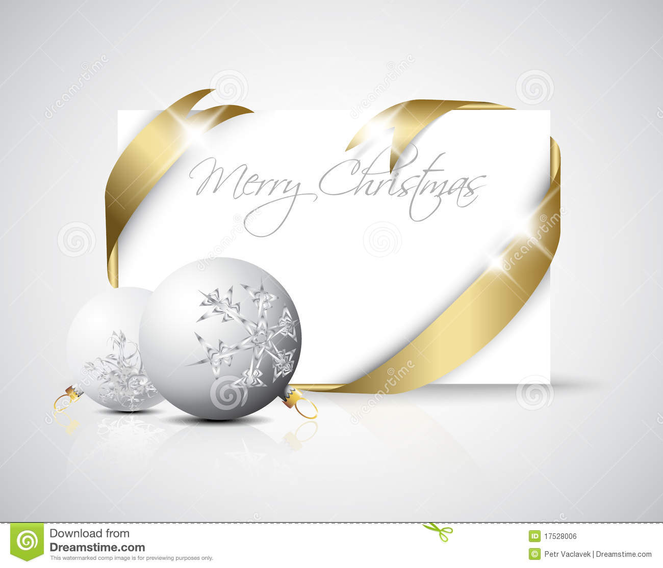 Luxury Christmas card stock illustration. Illustration of ball ...