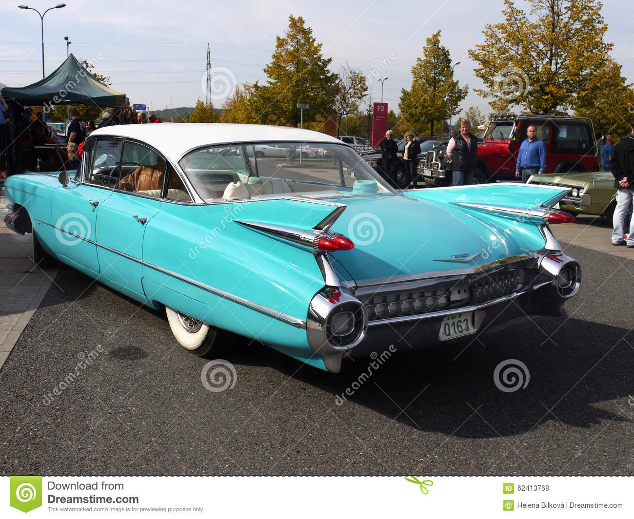 Vintage American Classic Car, Cadillac Editorial Stock Photo ...