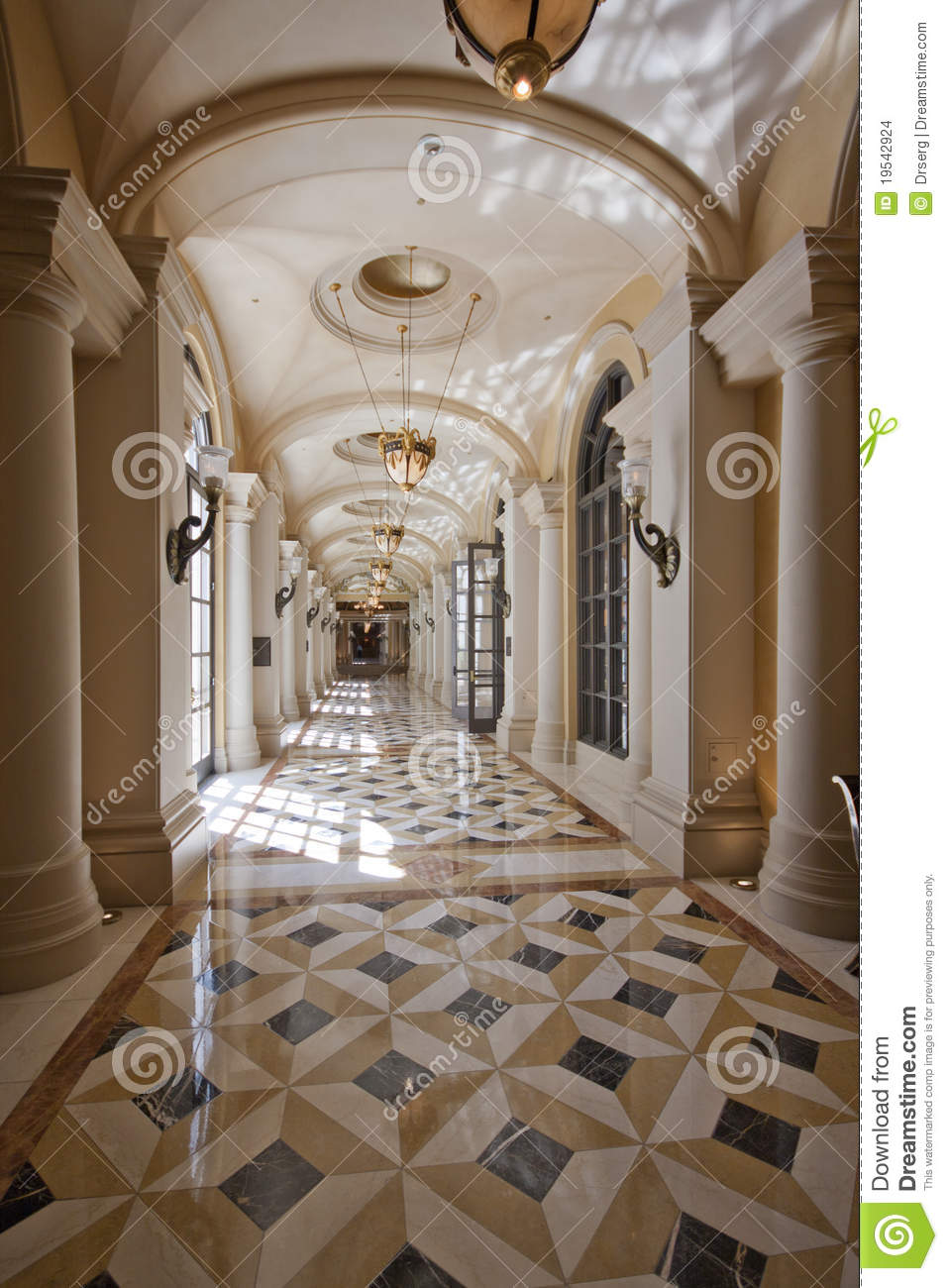 Luxury Classic Colonnade Corridor Stock Photo Image Of