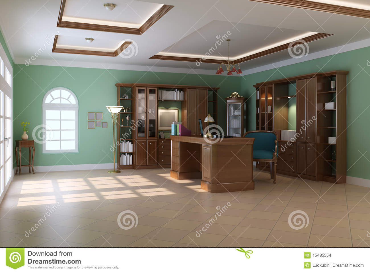 Luxury Classic Study Room Stock Images Image 15485564