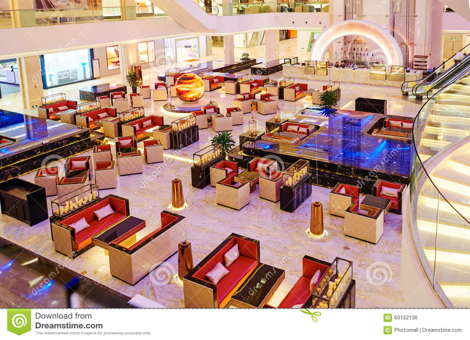 Restaurant Hall In The Hotel Stock Photo CartoonDealer  : luxury coffee shop modern hotel hall illuminated led light 60152136 from cartoondealer.com size 1300 x 958 jpeg 274kB