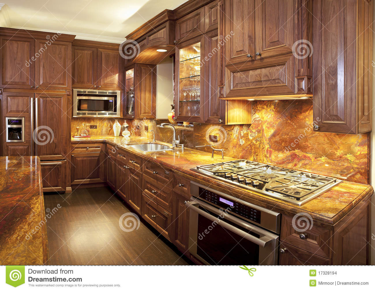 Luxury Contemporary Kitchen Stock Images Image 17328194