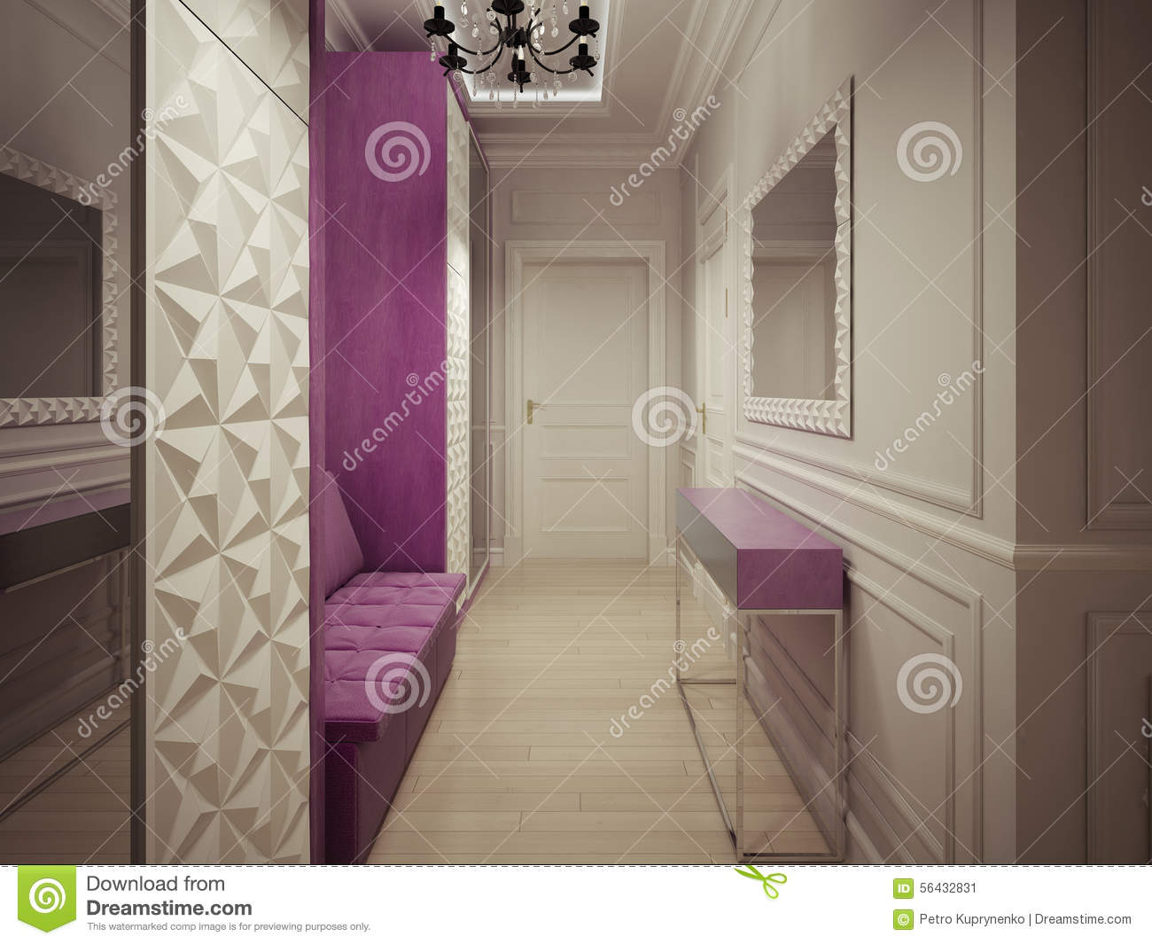 Luxury corridor design stock illustration illustration of lights