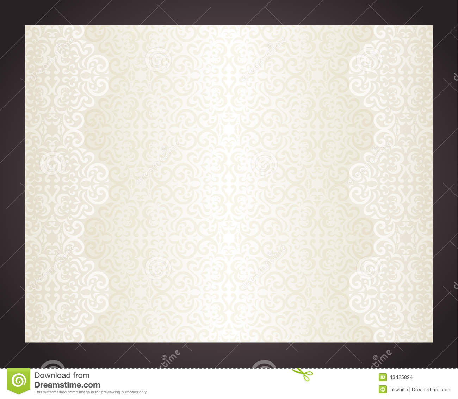 Luxury Cream Background In Vintage Style Stock Vector