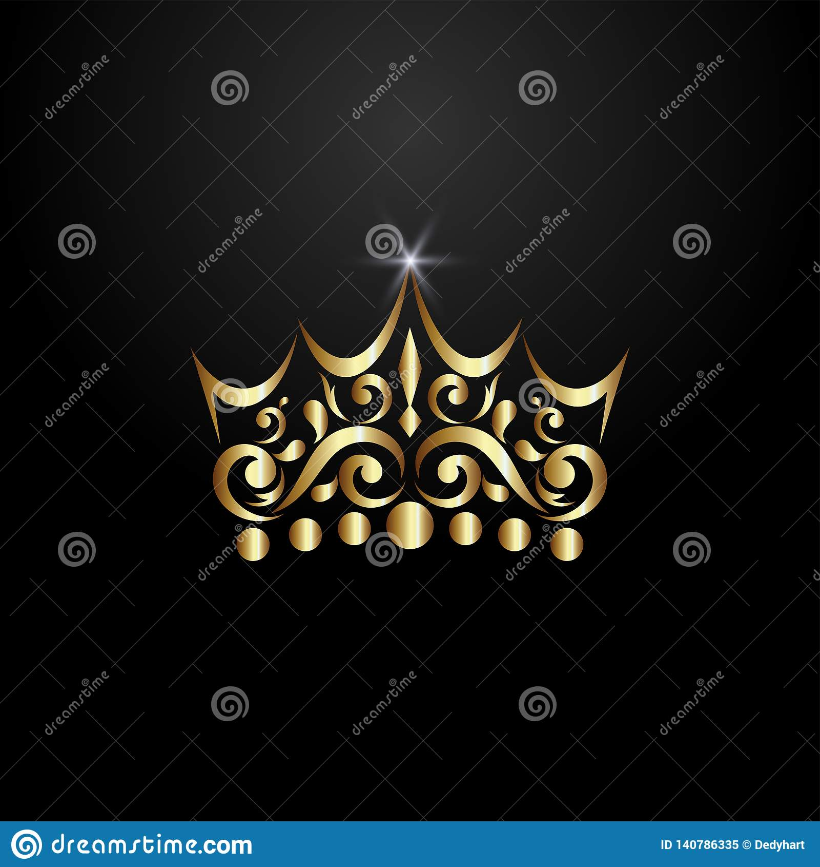 Luxury Crown Logo Stock Vector. Illustration Of Letter