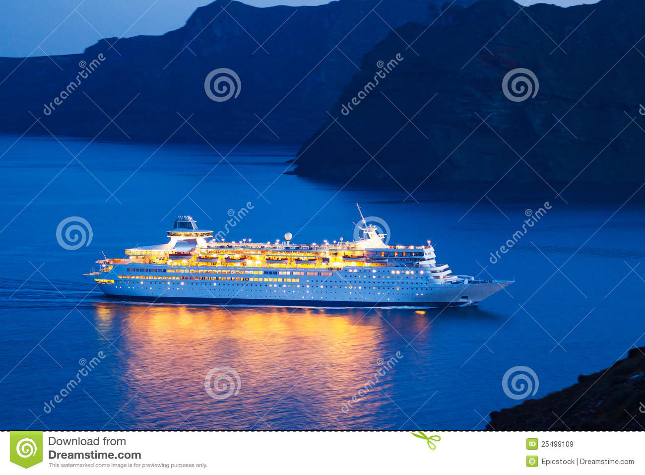 Download Luxury Cruise Ship stock image. Image of liner, large - 25499109