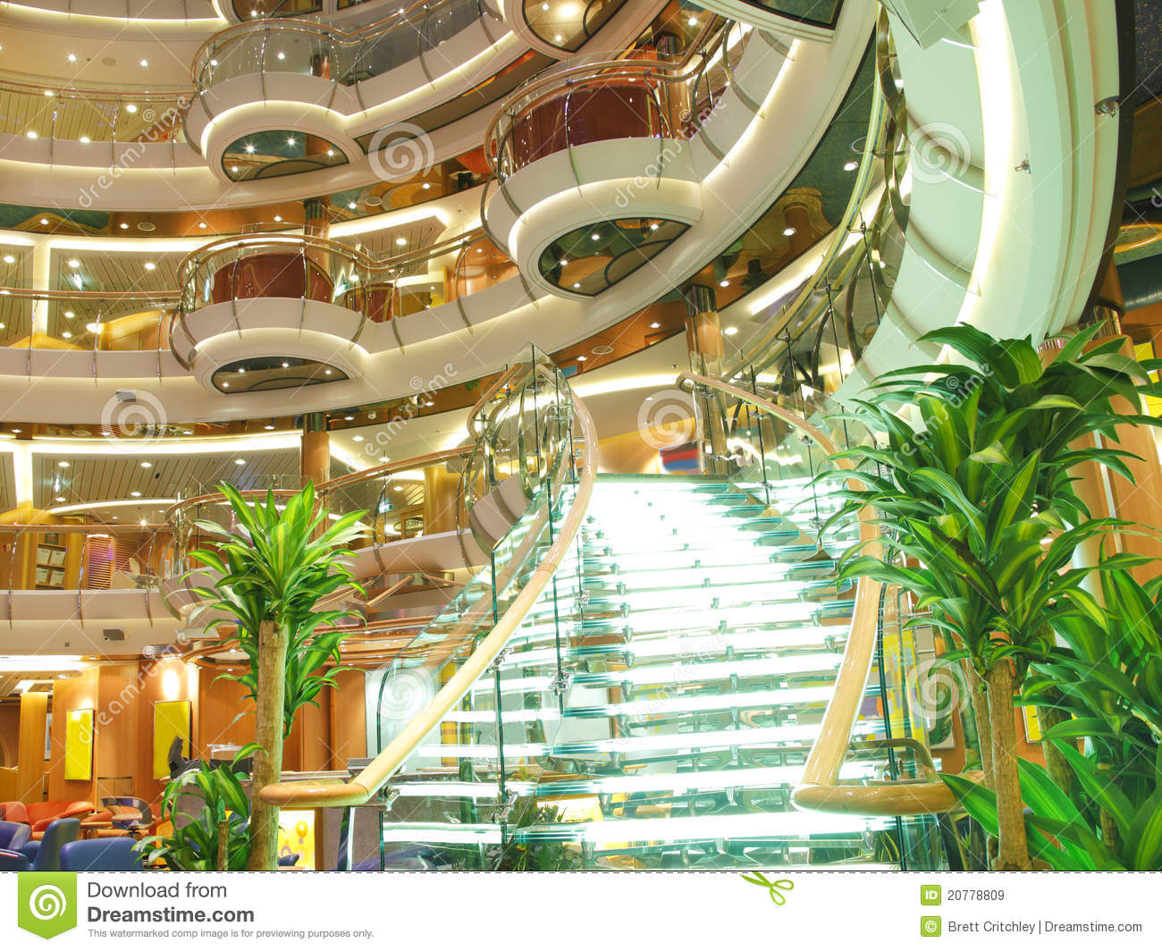 Luxury cruise ship interior stock image image of for Inside l interieur
