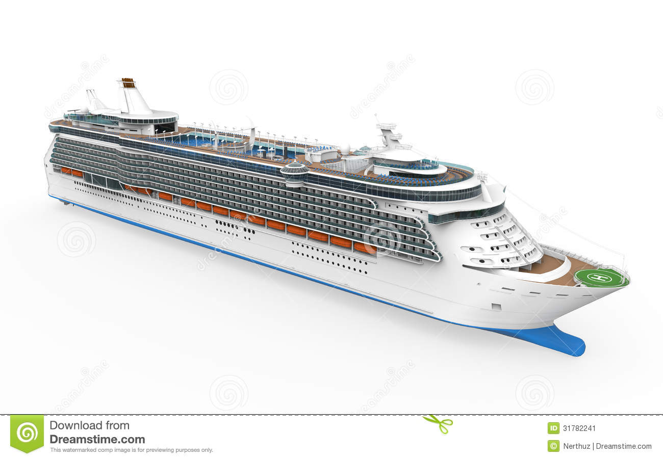 Luxury Cruise Ship stock illustration. Image of paradise ...