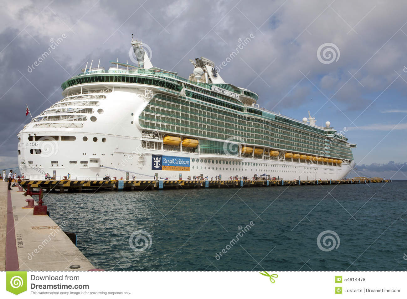 Luxury Cruise Ship At Port In Cozumel Mexico Editorial