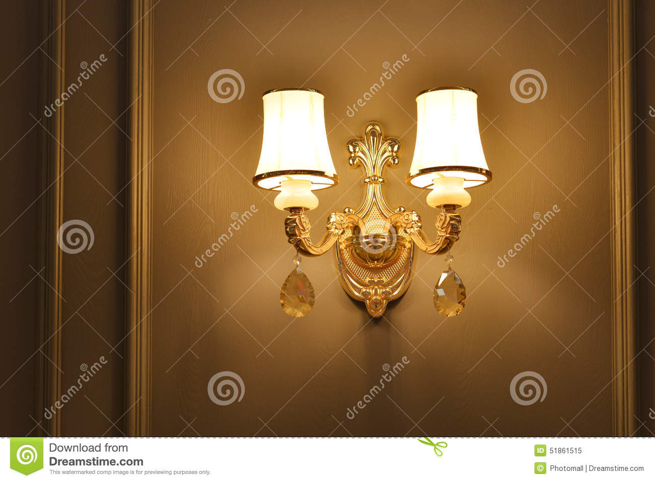Luxury Crystal Wall Lights : Luxury Crystal Wall Lighting Stock Image - Image: 51861515
