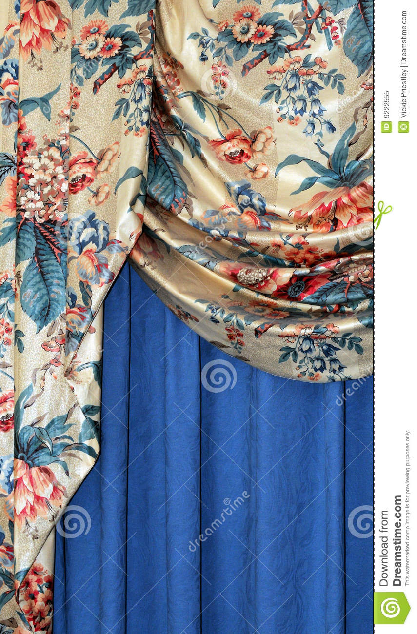 luxury curtains royalty free stock photo