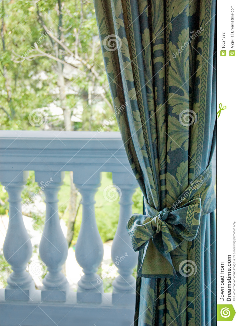 luxury curtains over window