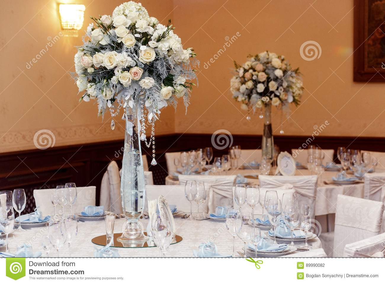 Luxury Decorated Tables At Rich Wedding Reception Stylish