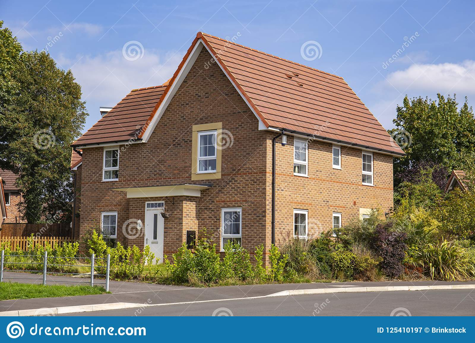 Luxury Detached Home On A New Housing Estate In Cheshire England United  Kingdom Europe