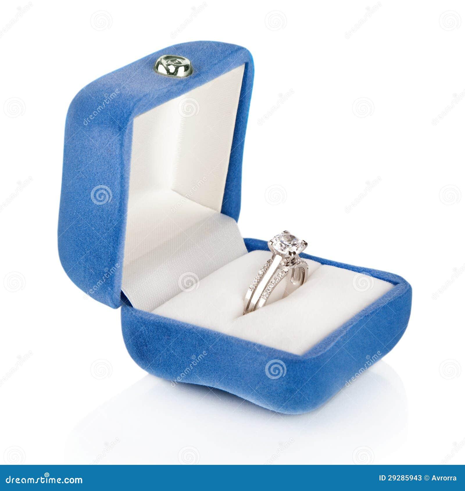Royalty-Free Stock Photo. Download Luxury Diamond Wedding Ring In Blue Velvet Silk Box ...  sc 1 st  Dreamstime.com & Luxury Diamond Wedding Ring In Blue Velvet Silk Box Stock Photos ... Aboutintivar.Com