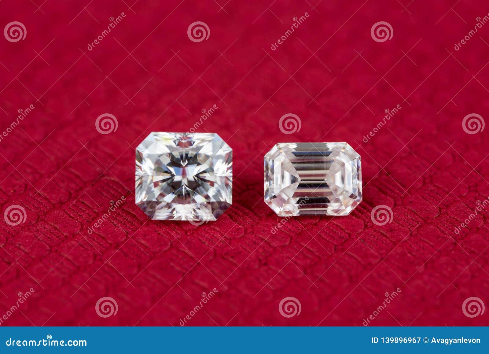 4b535694750c7 Diamond Radiant And Emerald Cut Stock Image - Image of stone ...