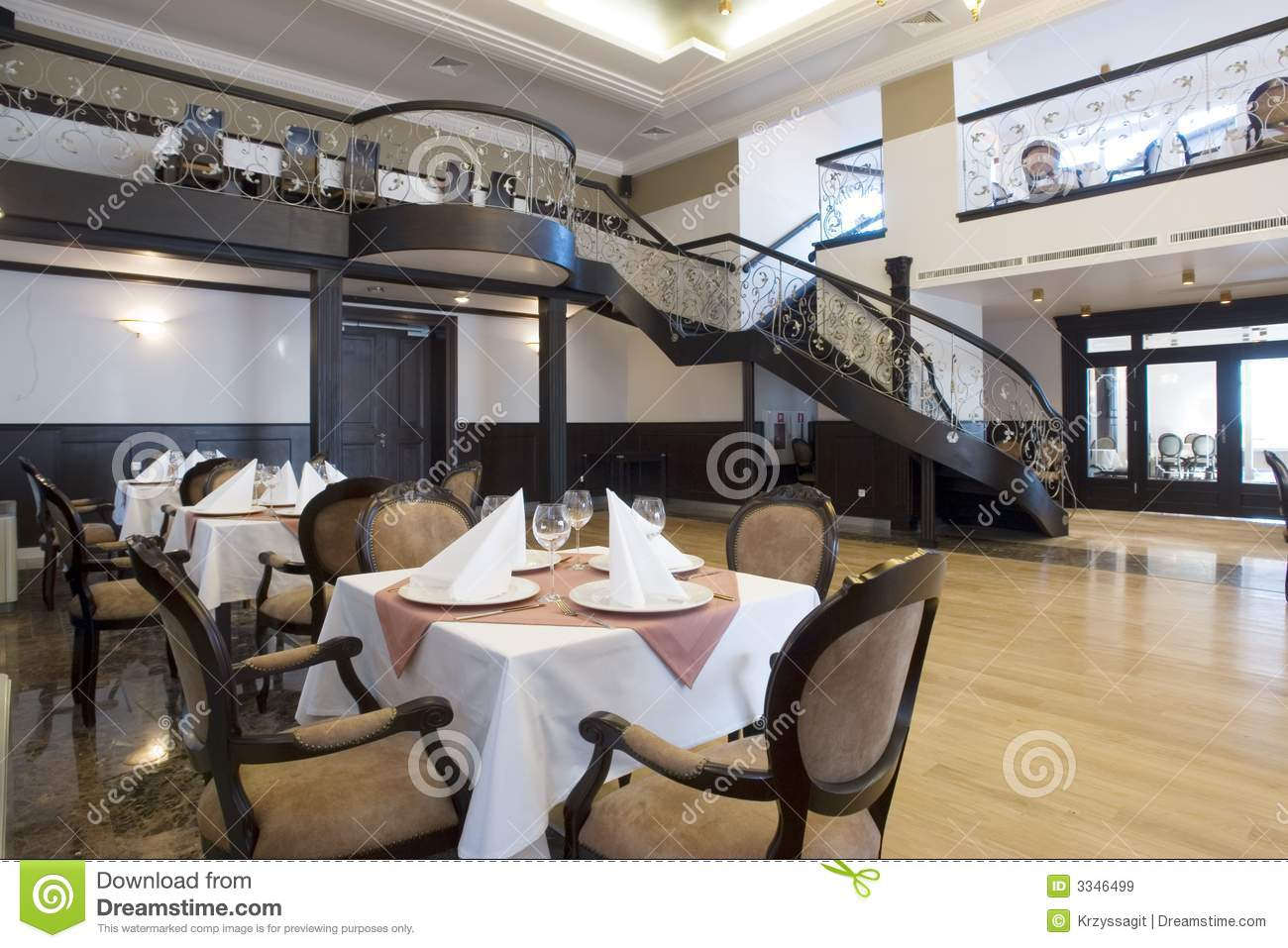 Luxury dining hall interior royalty free stock images for Dining hall interior