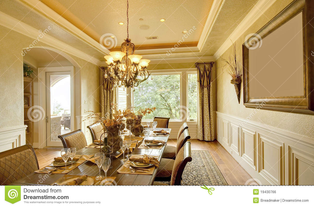 Luxury dining room royalty free stock image image 19430766