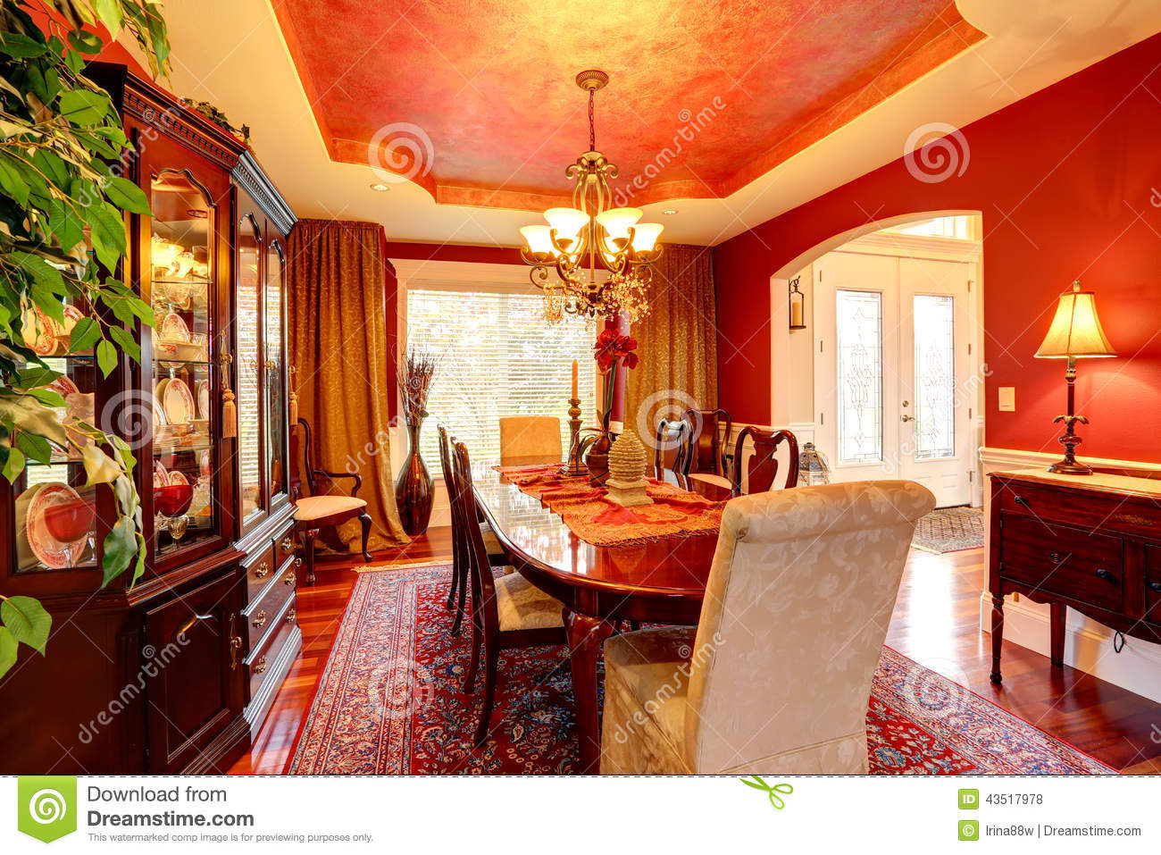 Dining Luxury Red Rich Room