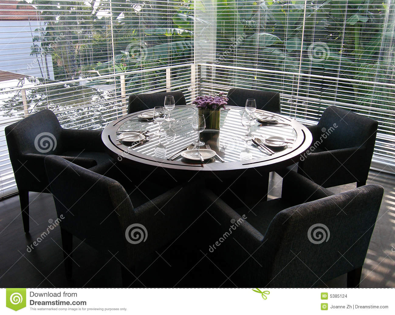 Luxury Dining Room, Formal Table Setting Stock Images - Image: 5385124