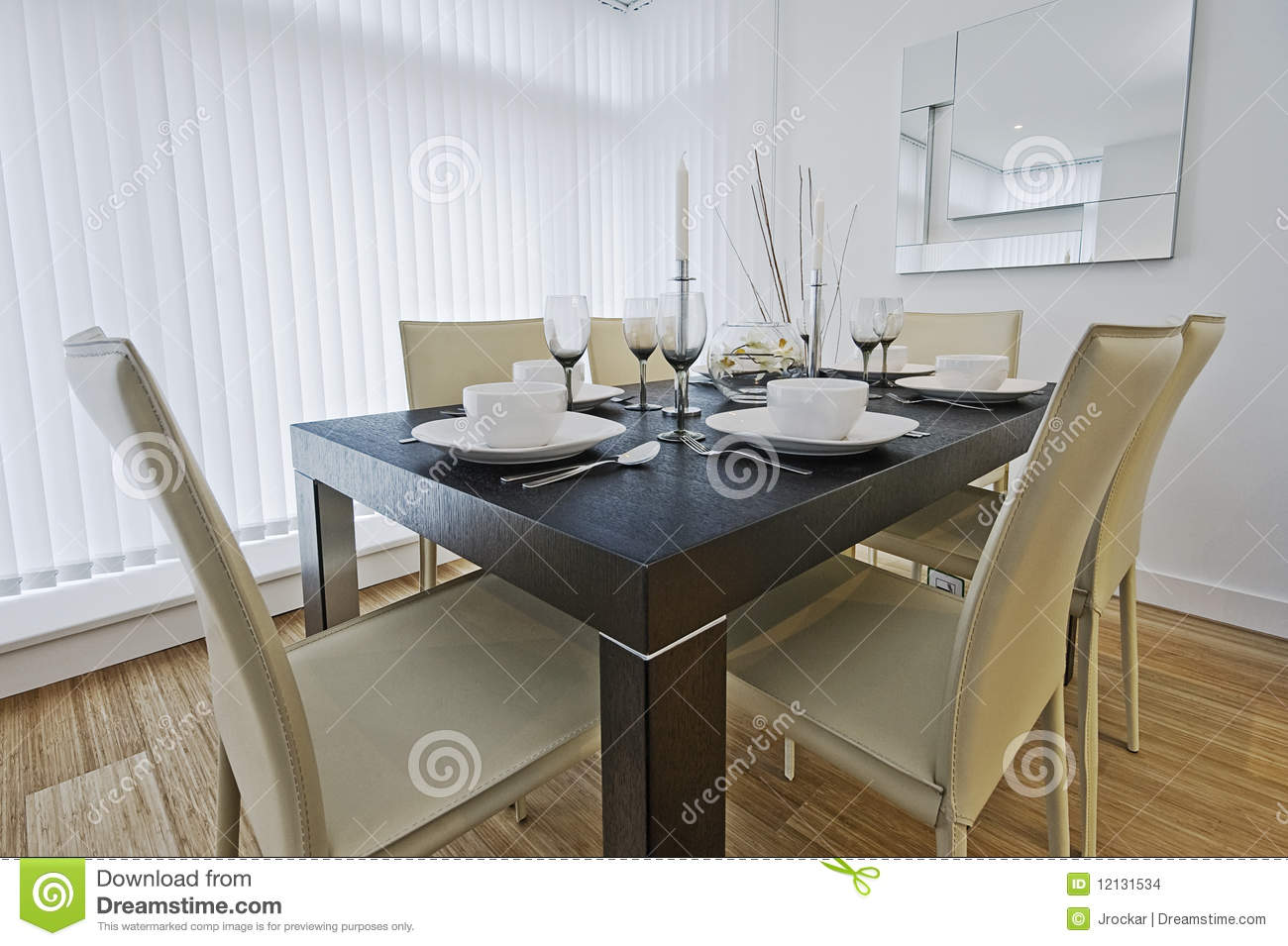 Luxury Dining Table Setup Stock Photo Image Of Leather 12131534