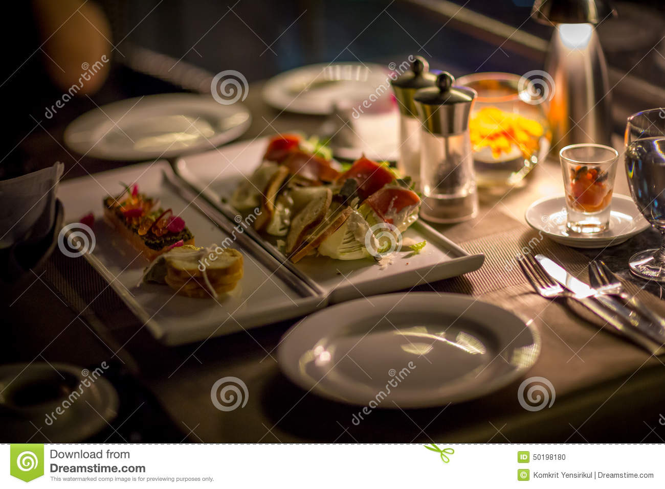 Luxury dinner stock photo image 50198180 for Table a diner