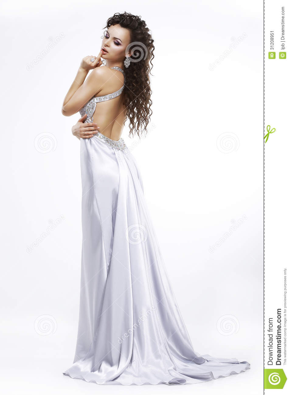 Luxury Elegance Glamorous Woman In Light Shiny Dress Dolce Vita Stock Image Image 31208951