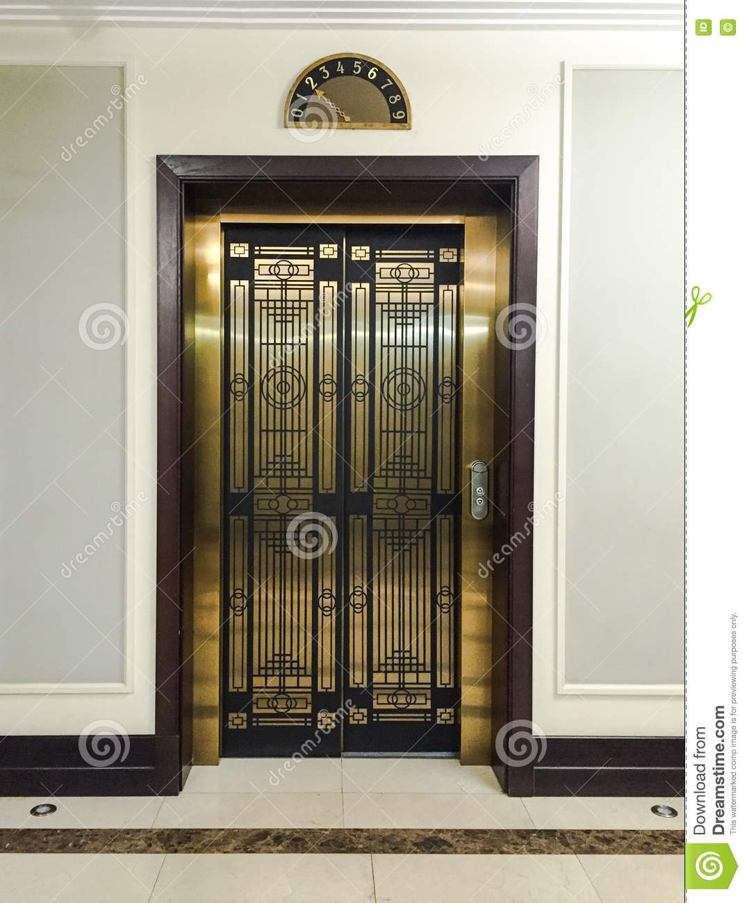 Luxury Elevator Door Stock Photo Image 77071970
