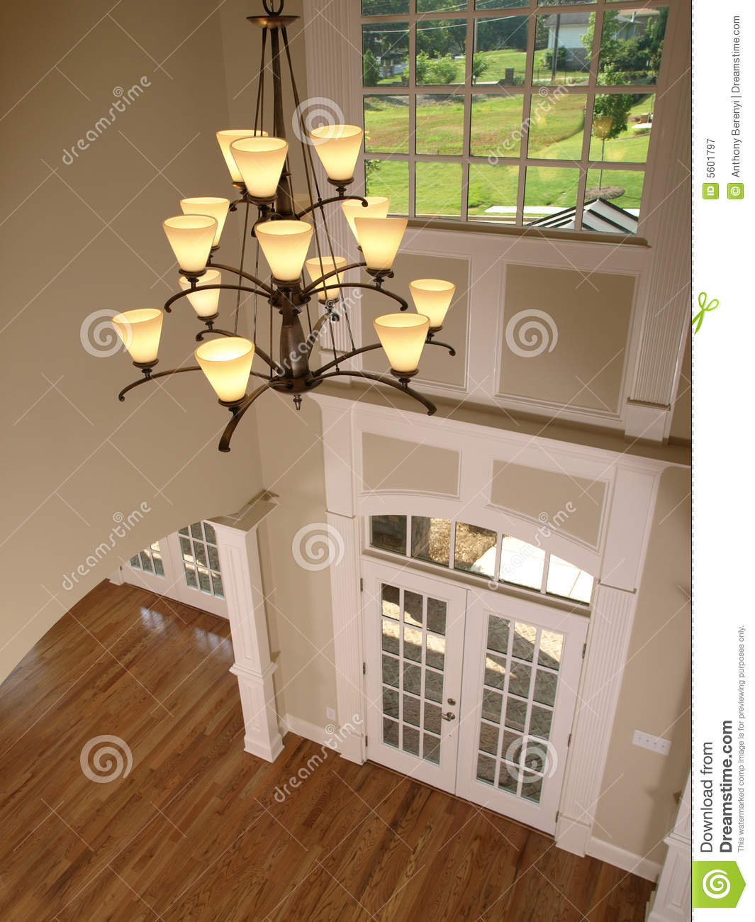 Foyer Architecture Website : Luxury entrance foyer with hanging light stock image