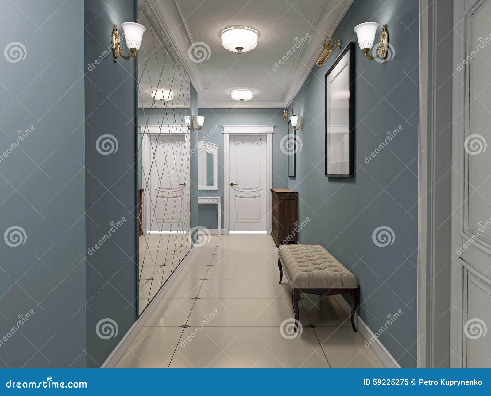 Luxury Entrance Hall Art Deco Design Stock Photo - Image: 59225275