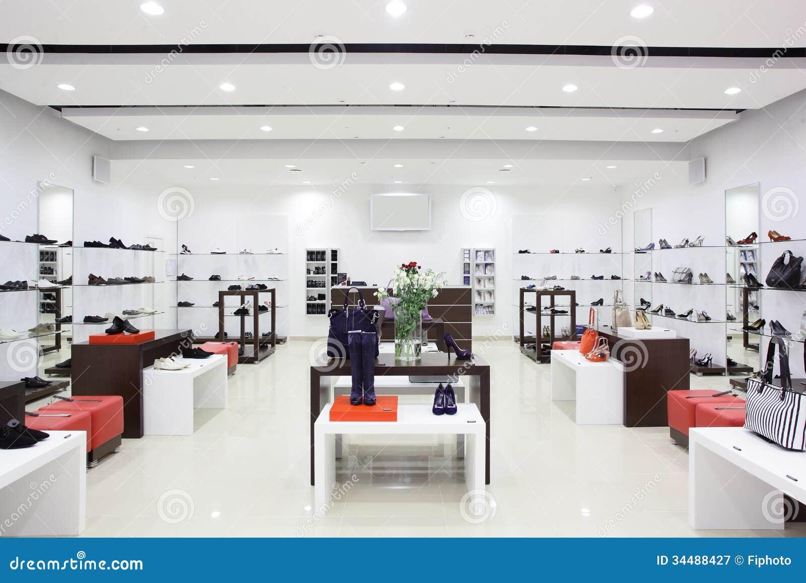 Luxury European Shoes Store Stock Image Image 34488427