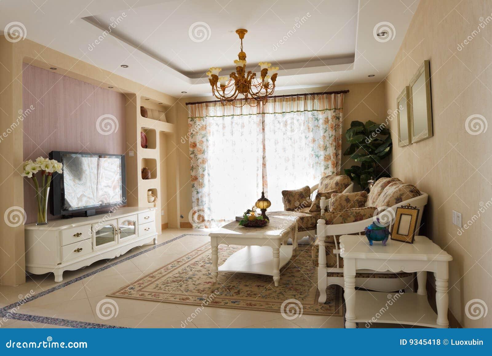 Luxury Expensive Living Room Interior Stock Photo