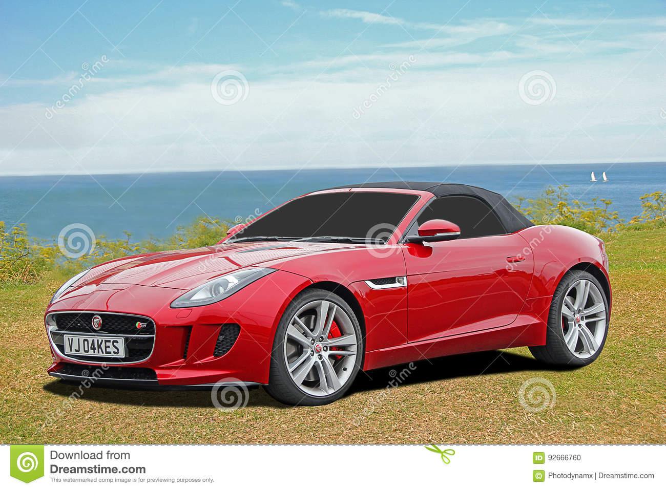 Luxury F Type Jaguar Sports Car Editorial Image Image Of Rich Life 92666760