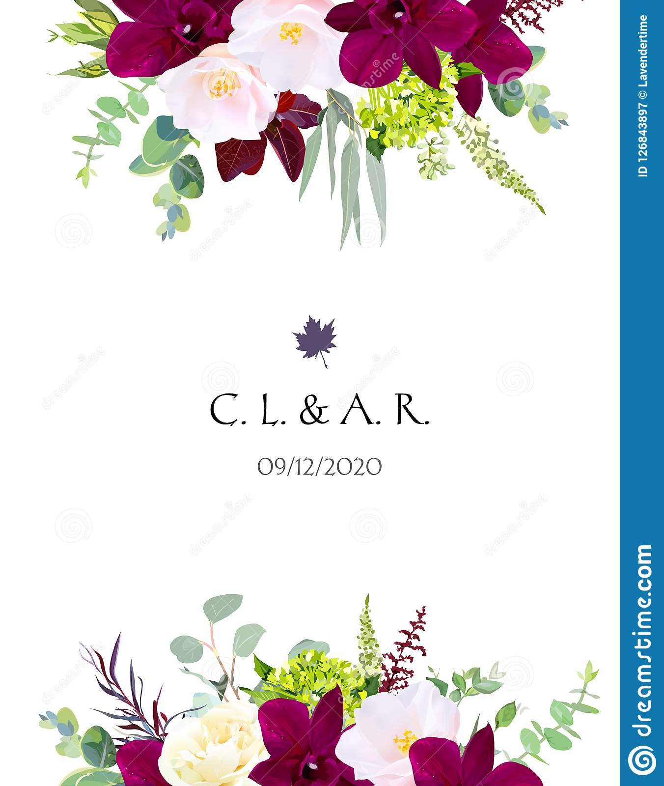 luxury fall flowers vector design card stock vector - illustration of autumn,  blooming: 126843897  dreamstime.com