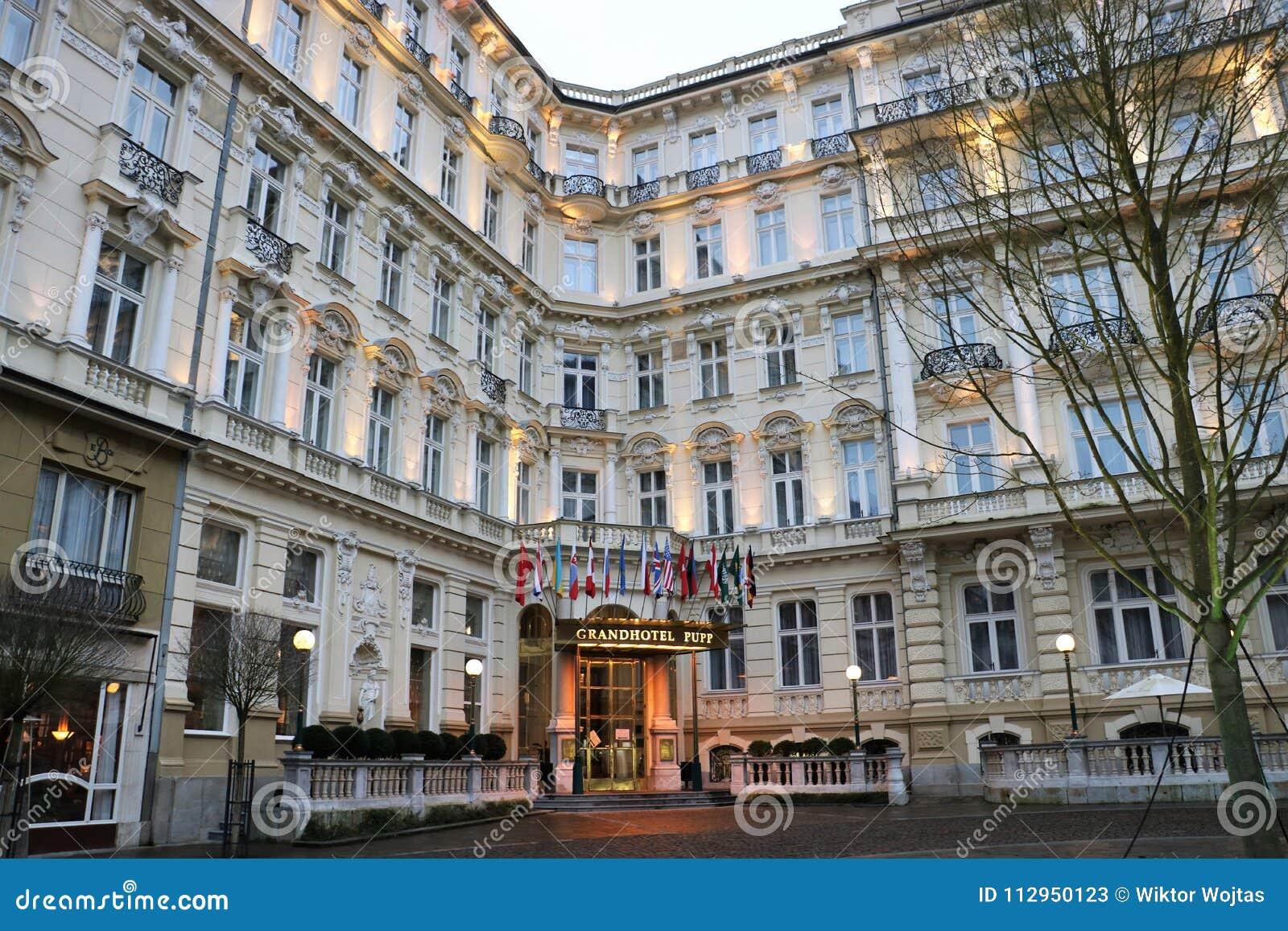 Grandhotel Pupp Karlovy Vary Editorial Stock Photo Image Of Luxury Festival 112950123