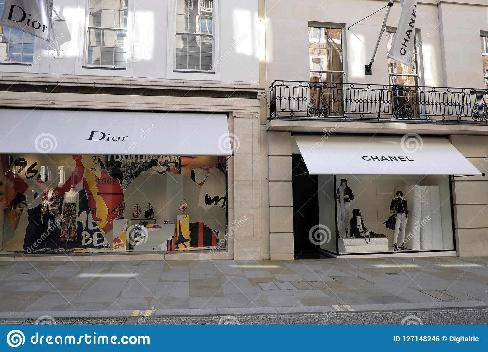 516c57cb4a9 Luxury Fashion Dior And Chanel Editorial Photo - Image of flagship ...