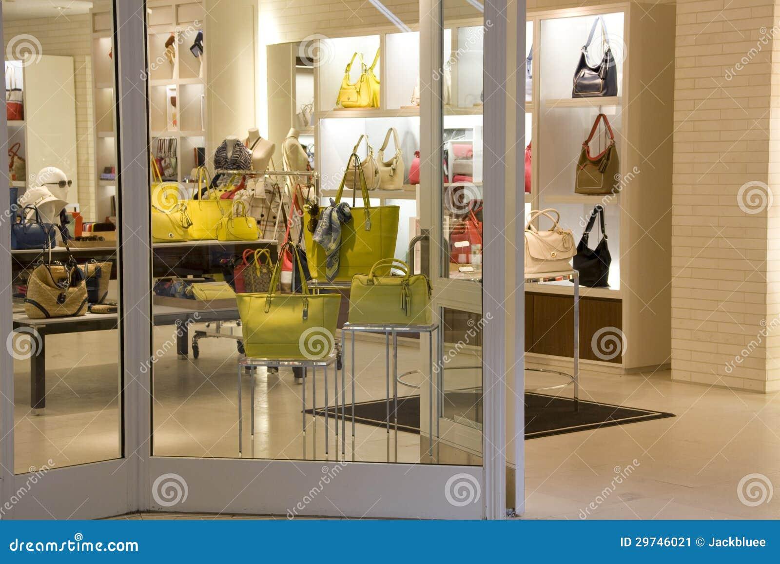 1bcc39a5ea Luxury Handbag Fashion Store Stock Image - Image of interiors ...