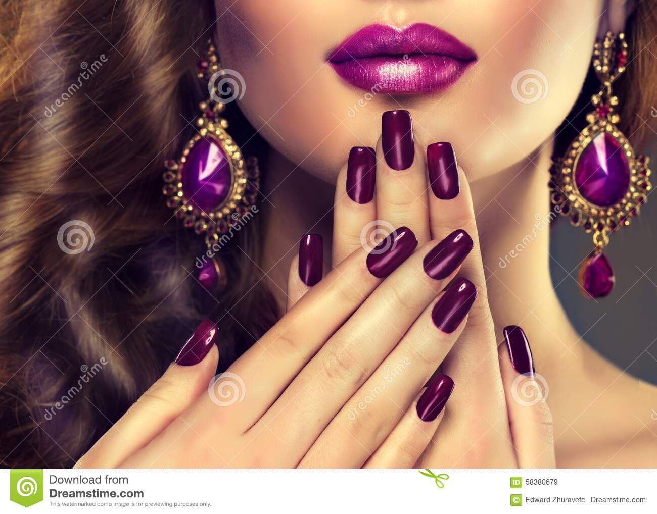 Luxury Fashion Style Nails Manicure Stock Photo Image 58380679
