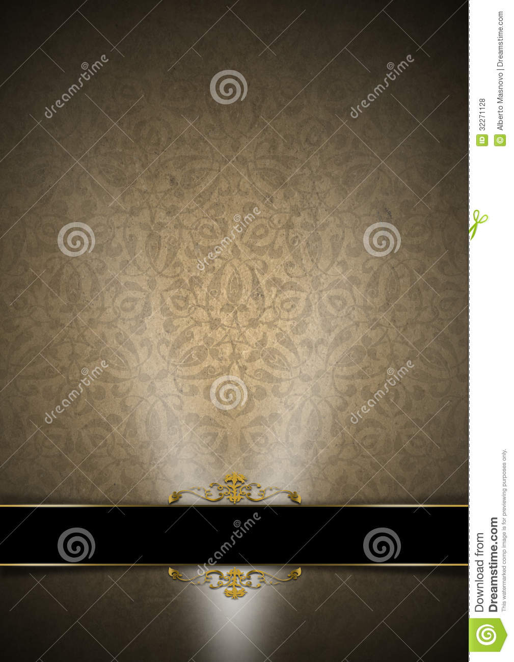 Luxury Floral Black, Brown And Gold Background Stock ...