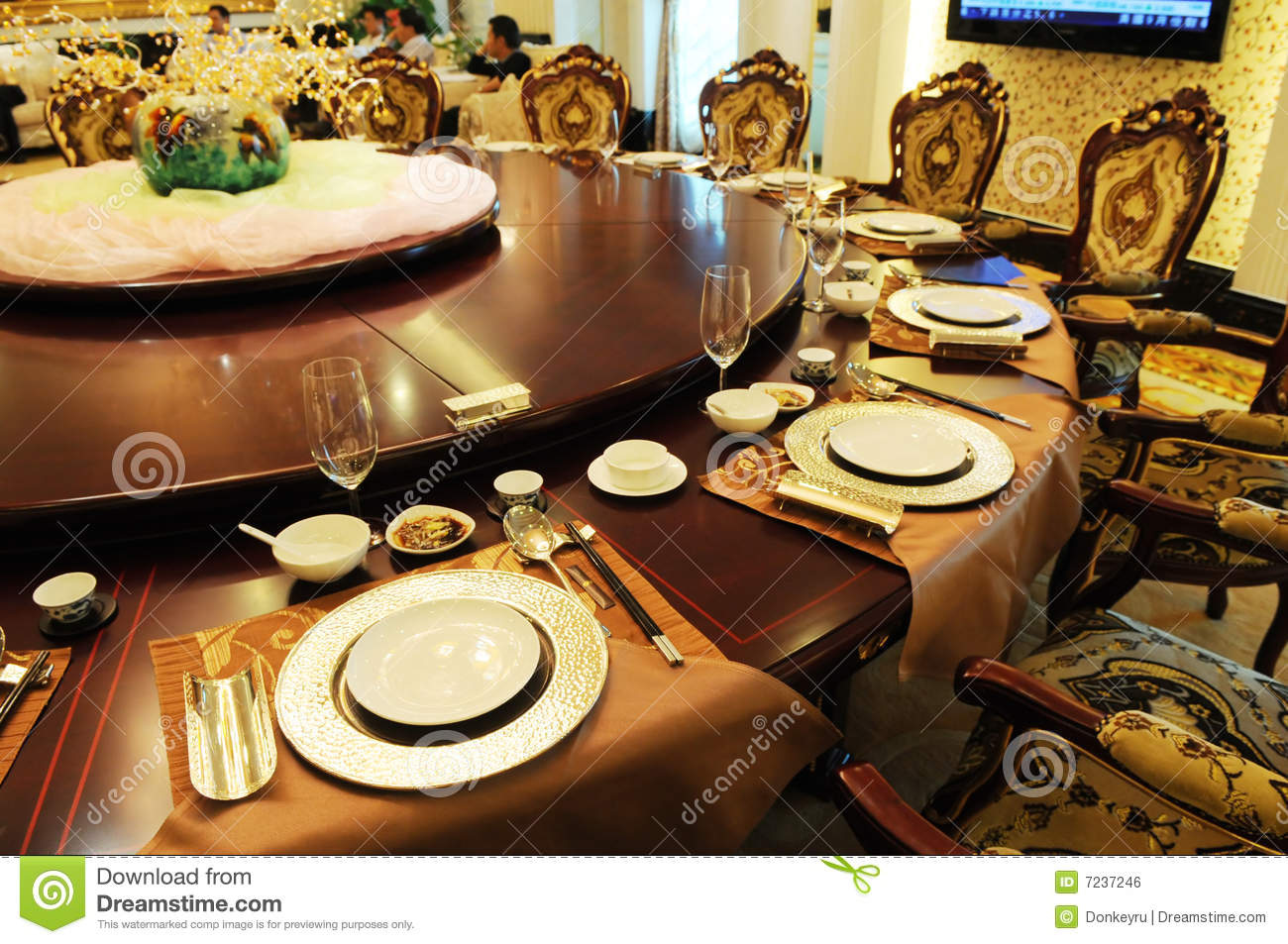 The Luxury Formal Dinner Setting Royalty Free Stock Image